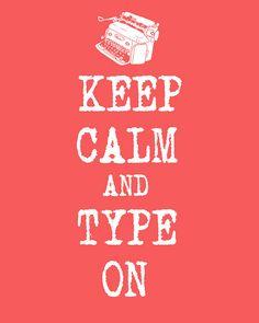 Keep calm and type on. #keep_calm #typerwriter