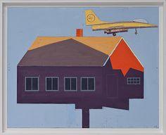 Leonard Rickhard <em>Innflyvning i aftensol I</em><br />olje på tre og papp, 66x81 cm