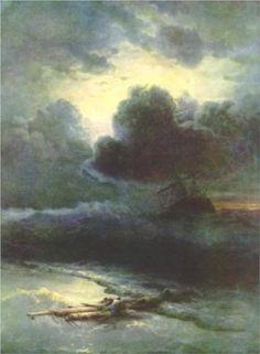 Thunderstorm by Ivan Aivazovsky