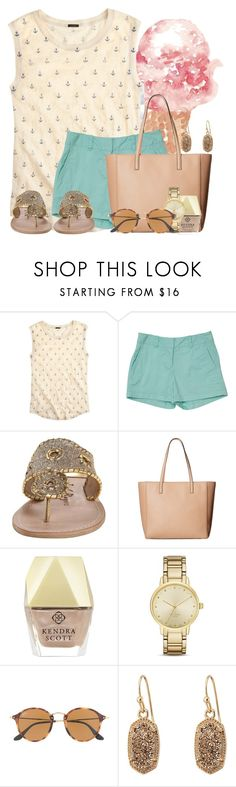 """""""Beach pics in items.. such a nice day"""" by flroasburn ❤ liked on Polyvore featuring J.Crew, Jack Rogers, Kate Spade, Kendra Scott and Ray-Ban"""