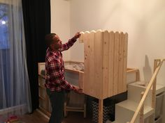 Today something completely different: IKEA KURA HACK: This is probably the easiest and most cost-effective way to build a bunk bed, which also … -