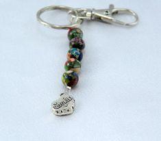 Clearance.  Key Ring. Purse Charm.  Gemstone by BlingbyDonna