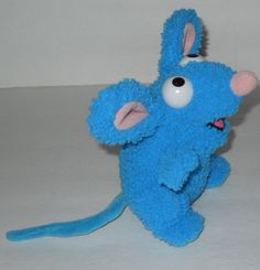 "Tutter Mouse Stuffed Plush 6"" Bear in Big Blue House Curly Wavy Disney Store #DisneyStore"