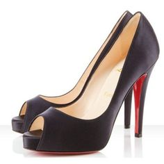 Chaussure Louboutin Pas Cher Pompe Very Prive 120mm Noir0 #chaussure