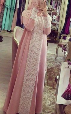 Modern Hijab Fashion, Muslim Women Fashion, Abaya Fashion, Fashion Dresses, Abaya Designs, Abaya Mode, Hijab Evening Dress, Hijab Stile, Hijab Style Dress