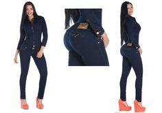 Enterizo jumpsuit peto push up súper wonder levanta-gluteos Colombiano vaquero, pantalon, jeans www.hadabella.com