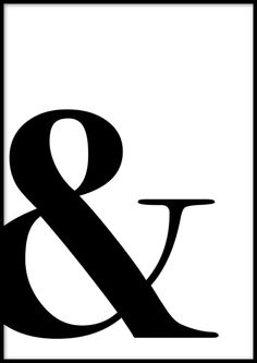 A trendy, typographic poster with an ampersand. Discover more posters and prints online. Black And White Picture Wall, White Picture Frames, Black And White Pictures, Helvetica Font, Text Poster, Motivational Quotes For Women, Online Posters, Typographic Poster, Self Love Quotes