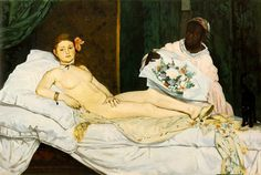 Édouard Manet (French, 1832-1883) Olympia (1863) Oil on canvas. 51 1:2 by 79 in. Musée d'Orsay