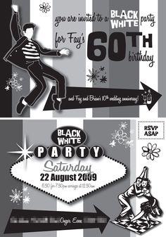 1950s Elvis Presley Birthday Digital Printable Invitation