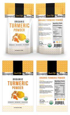 Organic Turmeric Curcumin Powder Label Template