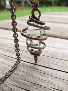 Wire Wrap Crystal Necklace Rustic Jewelry by daniellerosebean, $48.00