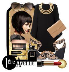 """Hot in the city"" by wuteringheights ❤ liked on Polyvore featuring moda, Valentino, Fiebiger, Aurélie Bidermann, Lancôme, Bobbi Brown Cosmetics e Victoria Beckham"