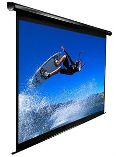 Elite Screens VMAX135UWH2 Electric Projection Screen (135-Inch 16:9 AR) by Elite Screens. Save 42 Off!. $489.99. From the Manufacturer                 In the past, Elite Screens' VMAX electric projector screen has been one of the most affordable ways for anyone to bring a quality retractable electric screen into their office presentation or home theater room. It comes out of the box fully assembled, ready to plug and play, has black masking borders, adjustable drop/rise positioning and I...