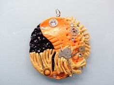 Unique Steampunk Koi Fish Pendant with Chain by ConstantMindJewelry, $13.99