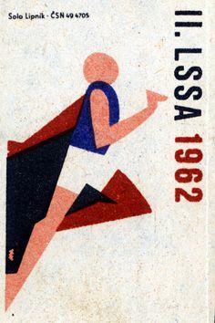 II. LSSA 1962. 11/15. Czechoslovak matchbox label.