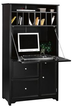 Oxford Tall Secretary Desk - Secretary Desks - Home Office Furniture - Furniture | HomeDecorators.com