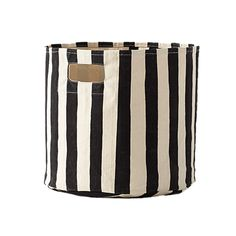 Black and White Stripe Storage Bin - perfect for mixing and matching in the nursery or playroom!