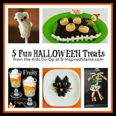 5 Halloween Snacks from the Kids Co-Op at B-Inspired Mama