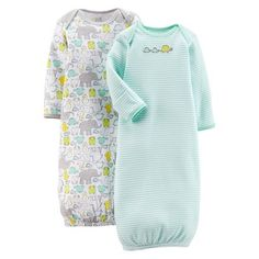 Just One You�Made by Carter's� Newborn 2 Pack Gown Set - Iced Green NB