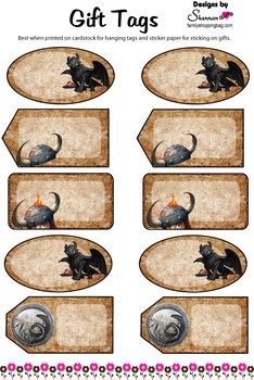 gift tags how to train your dragon