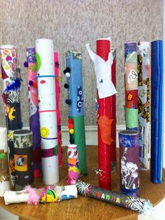 Homemade Rainsticks from paper towel rolls, Pringles cans or postal mailing tubes + endless decorating options!