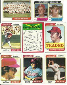 1974 Topps vintage WHITE SOX 30 cards partial team set lot HOFs GOSSAGE SANTO