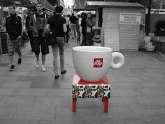 Large sized coffee cup in Budapest, Hungary