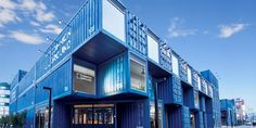 The new, blue face of the Common Ground shopping mall and creative space near Konkuk University in Seoul.