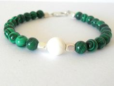 Emerald Green Malachite Bracelet with by theblackstarboutique, $42.00