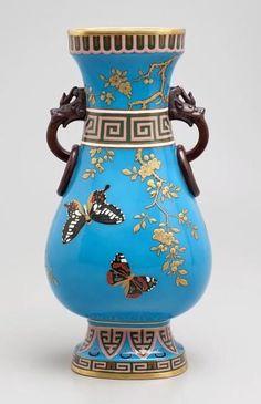 Minton Porcelain vase by Christopher Dresser 1902.