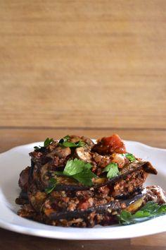 Paleo Eggplant Lasagna (Grain Free, Gluten Free, Dairy Free)  Serves 6 to 8  Ingredients      1 large globe eggplant, cut lengthwise i...