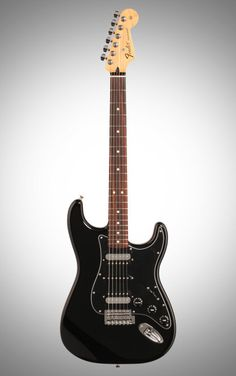 Fender Standard Stratocaster HSH Electric Guitar, with Rosewood Fingerboard, Black Guitar Pics, Guitar Amp, Musical Instruments, Electric, Dark Matter, Axe, Black, Wood, Musicals