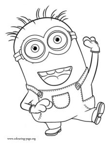printable the minions dave coloring page for kidsfree online