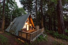 A cozy A-frame in Cazadero, California | 27 Tiny Houses You Can Actually Stay In