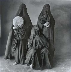 Three Rissani Women with Bread, Two Standing, Morocco, 1971 By Irving Penn