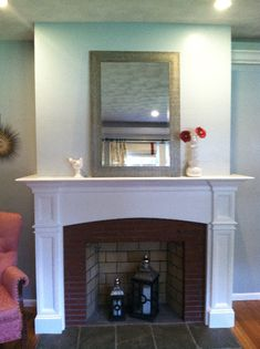fireplace mantels pictures | This lovely fireplace mantel serves ...