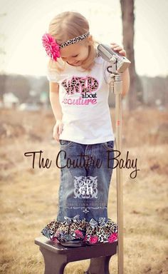Wild About Couture Denim Rhumba Set from The Couture Baby