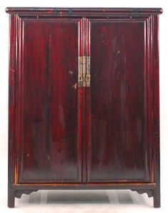 Antique Asian Furniture: Chinese Ming Style Armoire Cabinet from Fujian Province, China