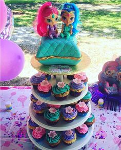 Ideas para Cumpleaños: 80 ideas para decorar cumple de Shimmer y Shine Shimmer And Shine Costume, Shimmer And Shine Cake, Twin First Birthday, Baby Birthday, Twins 1st Birthdays, 4th Birthday Parties, Unicorn Party, Ideas Para, Elsa 2