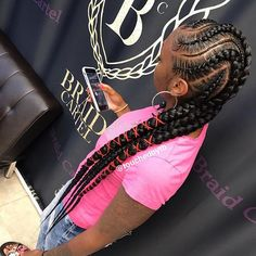 black braided hairstyles respect the Curve thanks boo Braided Hairstyles For Black Women Cornrows, Feed In Braids Hairstyles, Black Ponytail Hairstyles, Black Girls Hairstyles, Weave Hairstyles, Child Hairstyles, Unique Braids, Beautiful Braids, Black Girl Braids