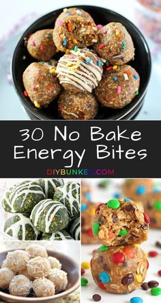 no bake energy bites are a great way for your to lose weight and get healthy! They're also great as quick protein snacks.These no bake energy bites are a great way for your to lose weight and get healthy! They're also great as quick protein snacks. Protein Snacks, Quick Healthy Snacks, Healthy Protein, Healthy Desserts, Healthy Drinks, Energy Snacks, High Protein, Good Healthy Recipes, Vegan Snacks