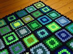 """Colorful Baby Blanket Baby Afghan Blanket 31""""x36"""""""