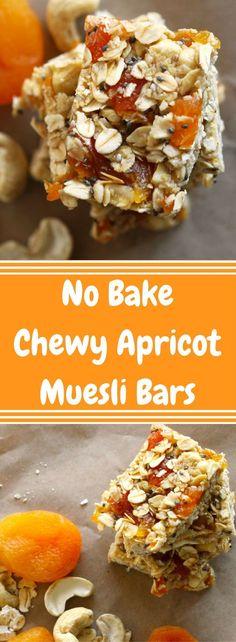 No Bake Chewy Apricot Muesli Bars