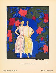Robes de garden-party by Gazette du Bon Ton - art print from King & McGaw