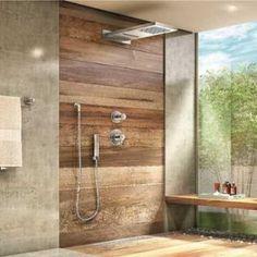 Banheiro com Decks de Madeira