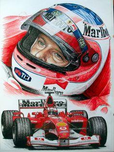 Rubens Barrichello 2002 by machoart.deviantart.com on @deviantART
