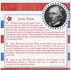 100+ Facts About US Presidents 10- John Tyler