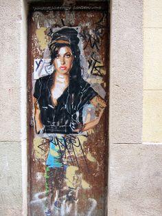Amy Winehouse Street art