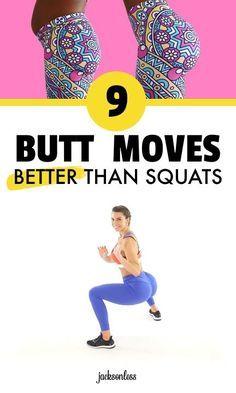 9 Butt Exercises Better Than Squats - Workout-Ganzkörper - health & fitness Fitness Workouts, Sport Fitness, Fitness Routines, Body Fitness, Physical Fitness, Fitness Motivation, Health Fitness, Workout Routines, Butt Workouts