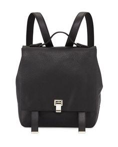 V1T2Z Proenza Schouler PS Large Leather Backpack, Black